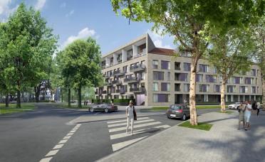 Düsseldorf/ Bilk, Wohnanlage (40 ETWs + KiTa)